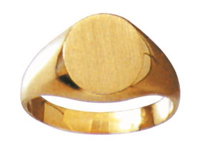 Chevalire massive 26 estampe  plat Or jaune 18k 11 x 9 mm