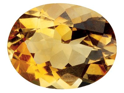 Citrine ovale 6 x 4 mm