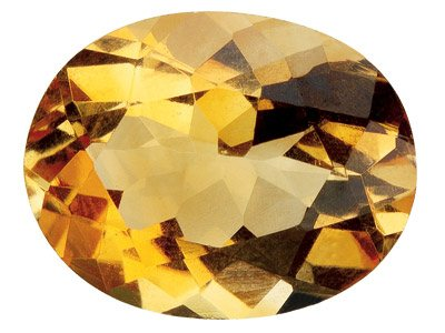 Citrine ovale 7 x 5 mm