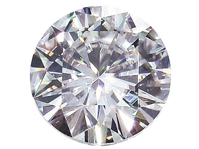 Moissanite ronde 6 mm, 0,68 ct
