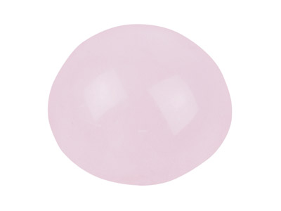 Quartz Rose, cabochon rond 10 mm