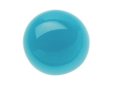 Turquoise cabochon rond 2 mm stabilis