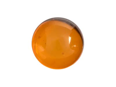 Ambre naturel, cabochon rond 10 mm