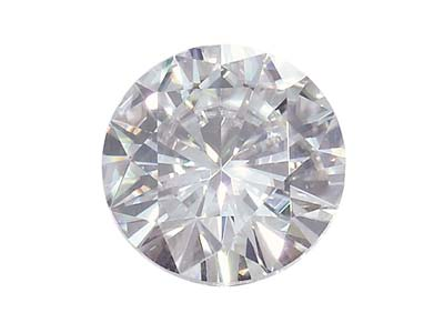 Moissanite ronde 6,5 mm, 0,88 ct