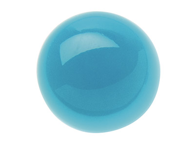 Turquoise cabochon rond 4 mm stabilis