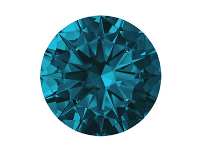 Zircone Nano Swarovski, brillant Bleu Londres, 2,50 mm