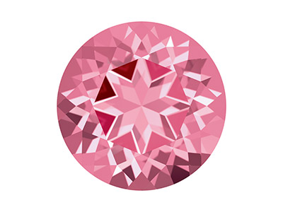 Topaze naturelle Swarovski, brillant Rose, 2 mm