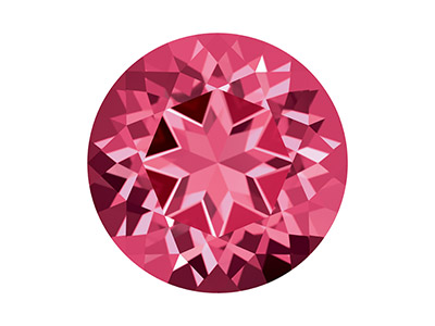 Topaze naturelle Swarovski, brillant Rose Magenta, 2 mm
