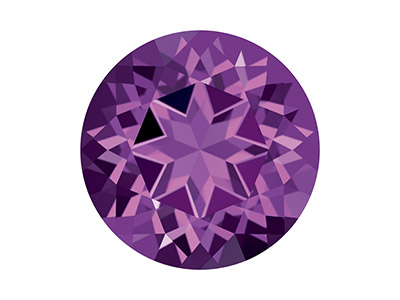 Topaze naturelle Swarovski, brillant Violet, 4 mm