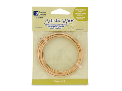 Fil laiton anti ternissement 260 mm Artistic Wire de Beadalon 150 mtre