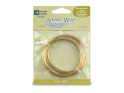 Fil laiton anti ternissement 130 mm Artistic Wire de Beadalon 310 mtres