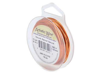 Fil cuivre naturel 102 mm Artistic Wire de Beadalon 910 mtres