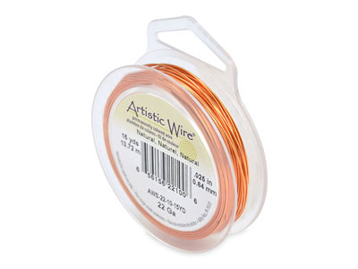 Fil cuivre naturel 064 mm Artistic Wire de Beadalon 1370 mtres
