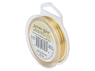 Fil laiton anti ternissement 064 mm Artistic Wire de Beadalon 1370 mtres