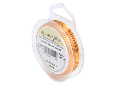 Fil cuivre naturel 051 mm Artistic Wire de Beadalon 1820 mtres