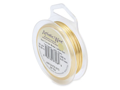 Fil laiton anti ternissement 051 mm Artistic Wire de Beadalon 1820 mtres