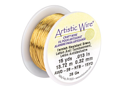 Fil laiton anti ternissement 032 mm Artistic Wire de Beadalon 1370 mtres
