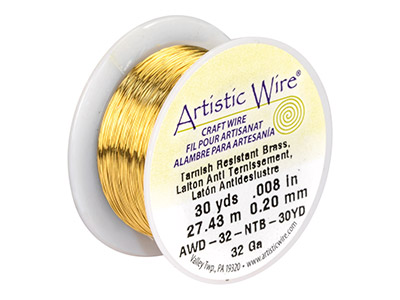 Fil laiton anti ternissement 020 mm Artistic Wire de Beadalon 2740 mtres