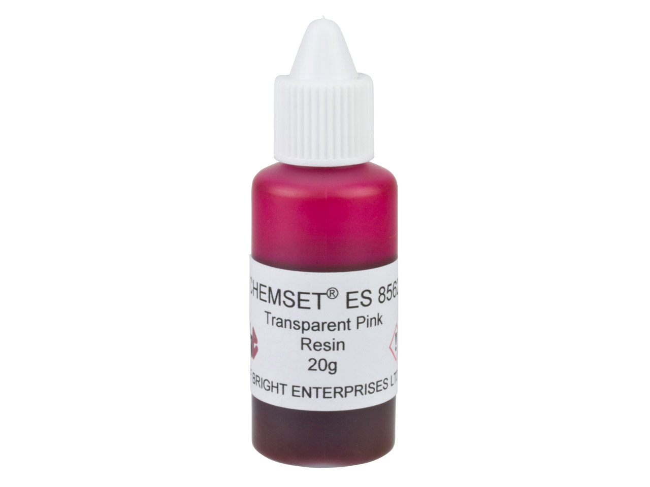 Résine Epoxy transparente rose, pot de 20 g, réf.ES8562