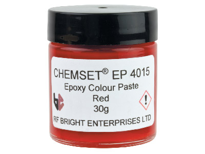 Pâte Epoxy rouge opaque, Réf. EP4015, pot 30 g