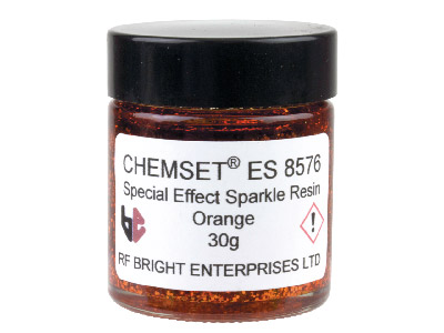 Résine Epoxy pailletée orange, Réf. ES8576, pot de 30 g