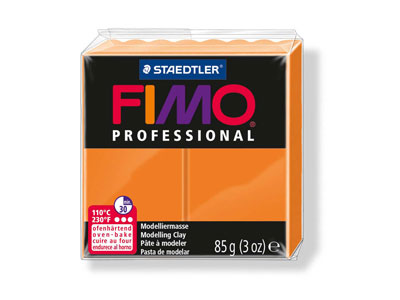 Fimo Pro, pâte polymère Orange n 4, pain 85 g