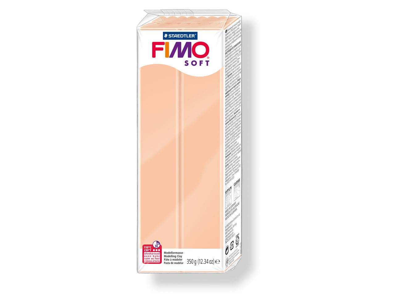 Fimo Soft, pâte polymère Chair n° 43, pain 350 g