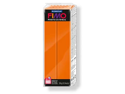 Fimo Pro, pâte polymère Orange n 4, pain 350 g