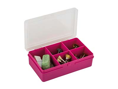 Organiseur extra small 5 compartiments, 14,5 x 9,5 x 4 cm, Polypropylène rose, Wham