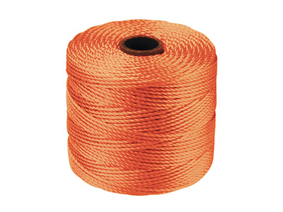 Cordon S-Lon Bead Cord Beadsmith Orange 0,50 mm, 70 mètres