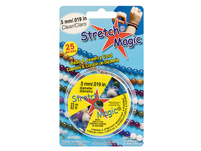 Stretch Magic Fil élastique transparent 0,50 mm, bobine de 25 mètres
