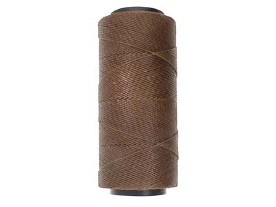 Cordon ciré brésilien Knot-it Beadsmith, marron 0,90 mm, 144 mètres