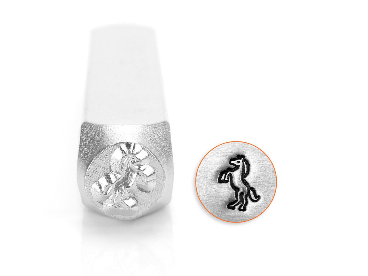poinçon impressart, motif cheval qui se cabre, 6 mm - cookson-clal
