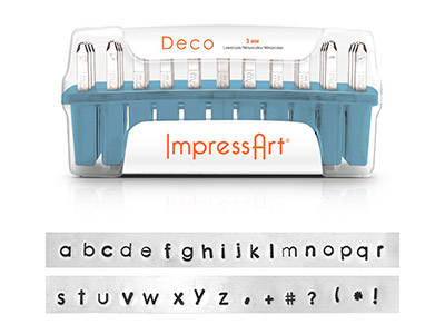 Poinons ImpressArt Alphabet Dco Minuscules 3 mm
