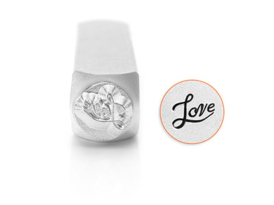 Poinçon-ImpressArt,-motif-Love,-6-mm