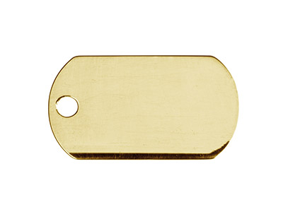 Plaque GI en Plaqu Or 14k 22 x 13 mm