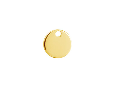 Ebauche Flan Rond percé 1 trou, 10 mm, Gold filled 14k