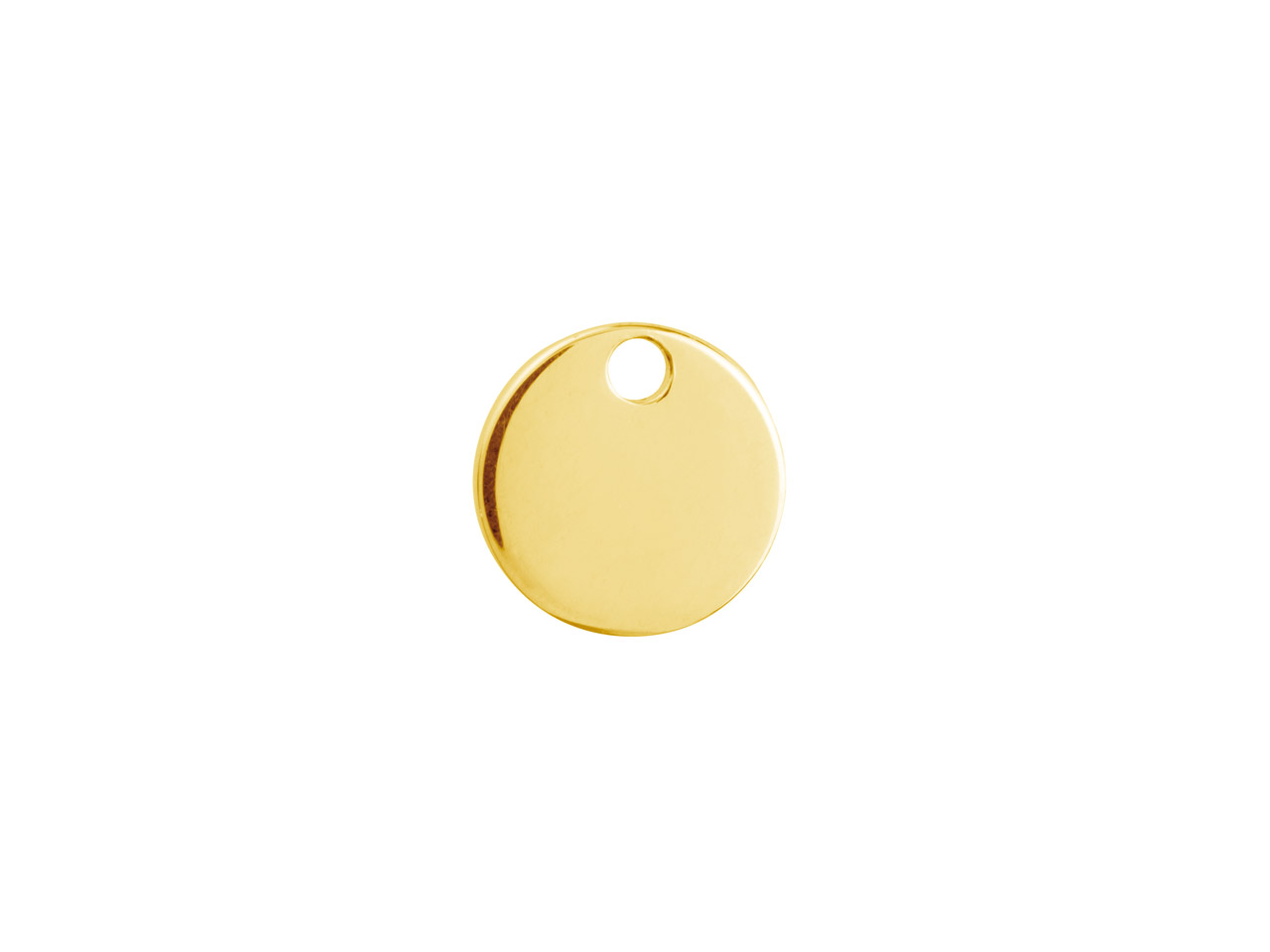 Flan rond un trou 10 mm, Gold filled 14k