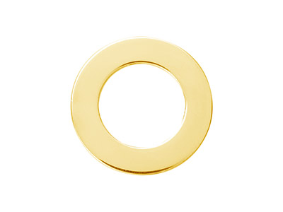 Rondelle 15 mm Plaqu Or 14k