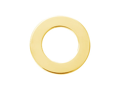 Rondelle 20 mm Plaqu Or 14k