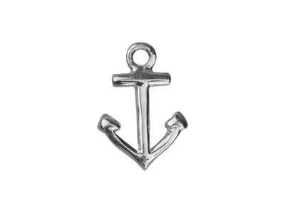 Pendentif Ancre marine 10 mm, Argent 925