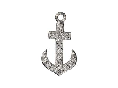Pendentif Ancre marine 15 mm, Argent 925