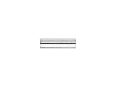 Intercalaire tube 5 x 15 mm Argent 925 sachet de 25