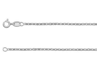 Chane Jaseron diamante Argent 1 mm 45 cm