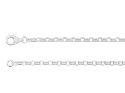 Chane Jaseron diamante Argent 3 mm 45 cm