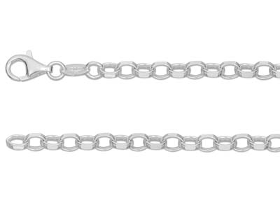 Chane Jaseron diamante Argent 5 mm 50 cm