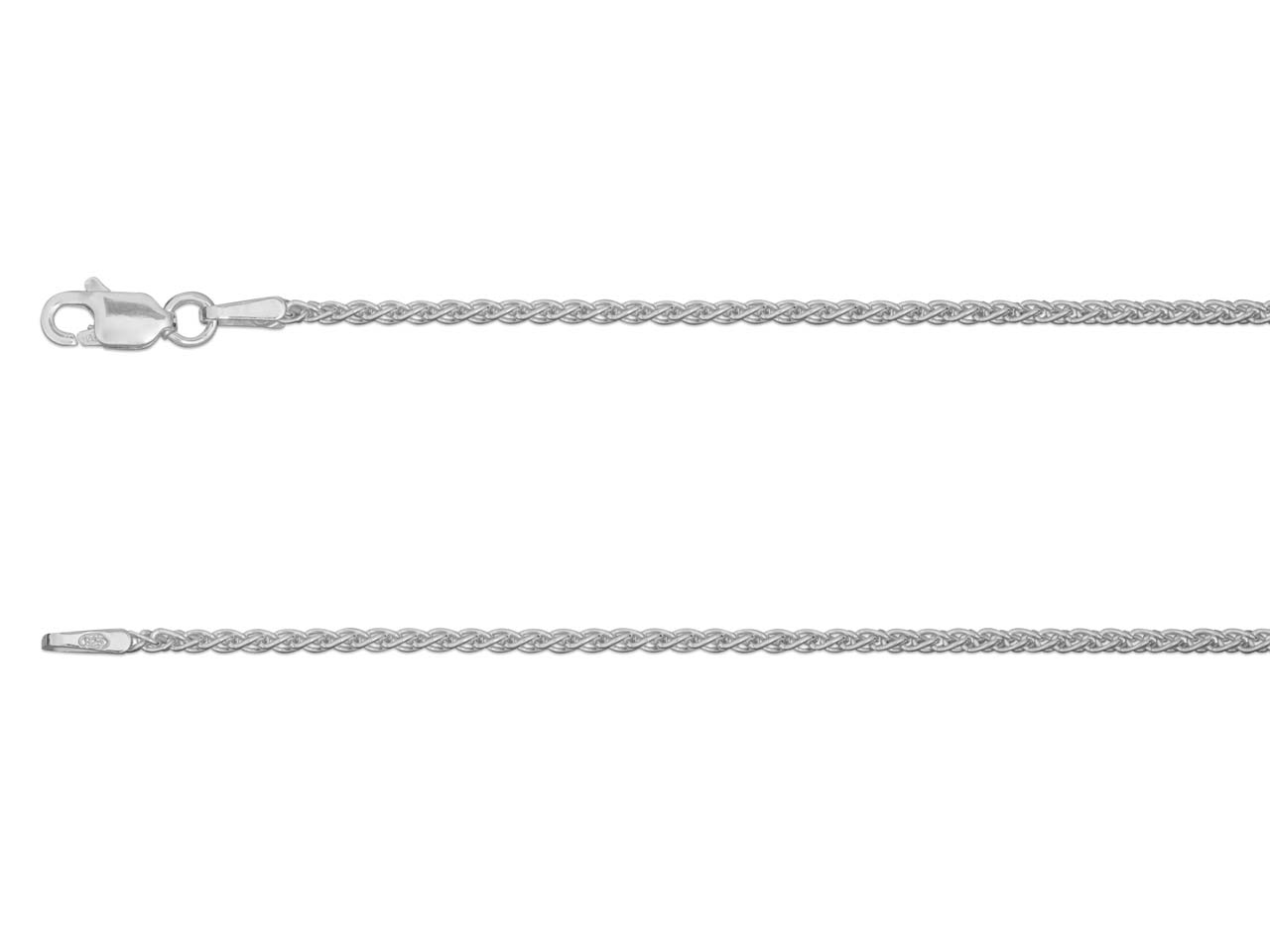 Chaine Spiga 1,50 mm, Argent sterling, 40 cm