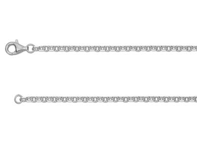 Chane Jaseron diamante carre Argent 2 mm 55 cm