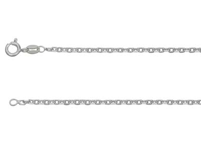 Chane Jaseron diamante carre Argent 18 mm 45 cm