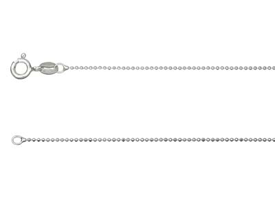 Chane Boule diamante Argent 925 1 mm 50 cm